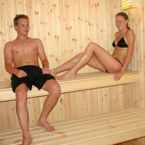 Camping med badeland, Sauna